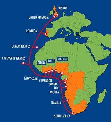 西非海底光缆系统尼日利亚段将于3月内恢复