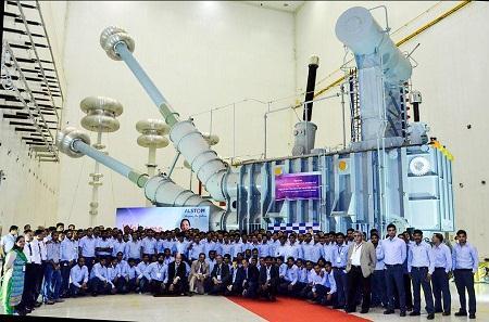 阿尔斯通发布首台印度造800千伏变流变压器