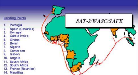 SAT-3海底光缆系统尼日利亚段将于本月完成修复