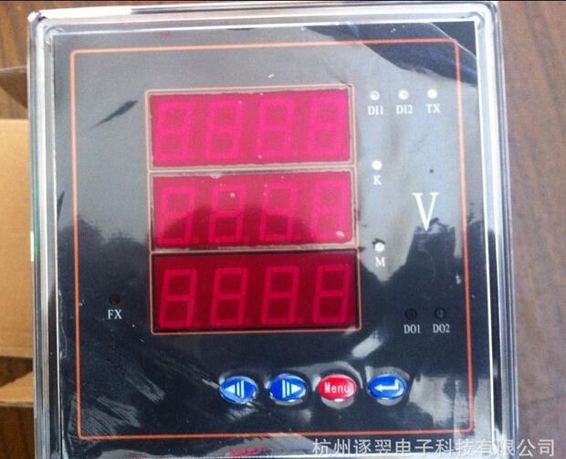 数字电压表三相电表