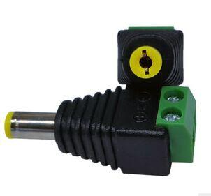 绿色dc公电源头接线端子台 弹簧音叉插拔
