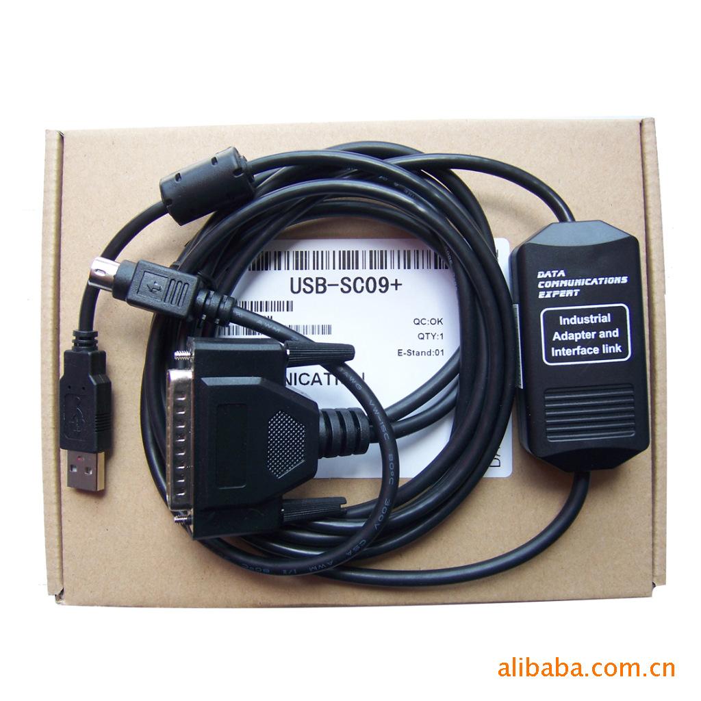 usb-sc09+ 三菱fx和a系列plc编程电缆