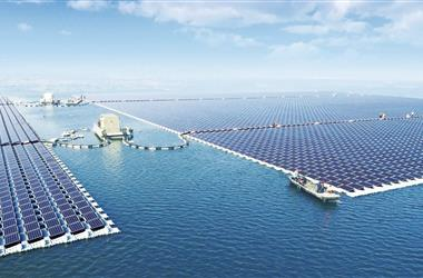 全球最大水面漂浮光伏电站并网发电
