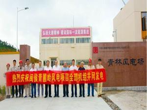 大唐新能源青林风电场二期青圃岭项目并网发电