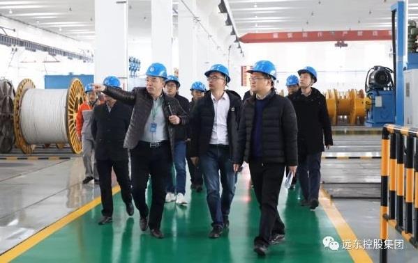 江苏省工信厅、无锡市和宜兴市工信局专家领导审核远东复合技术智能车间