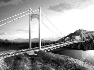 西北最大跨度桥梁主缆安装完成80%