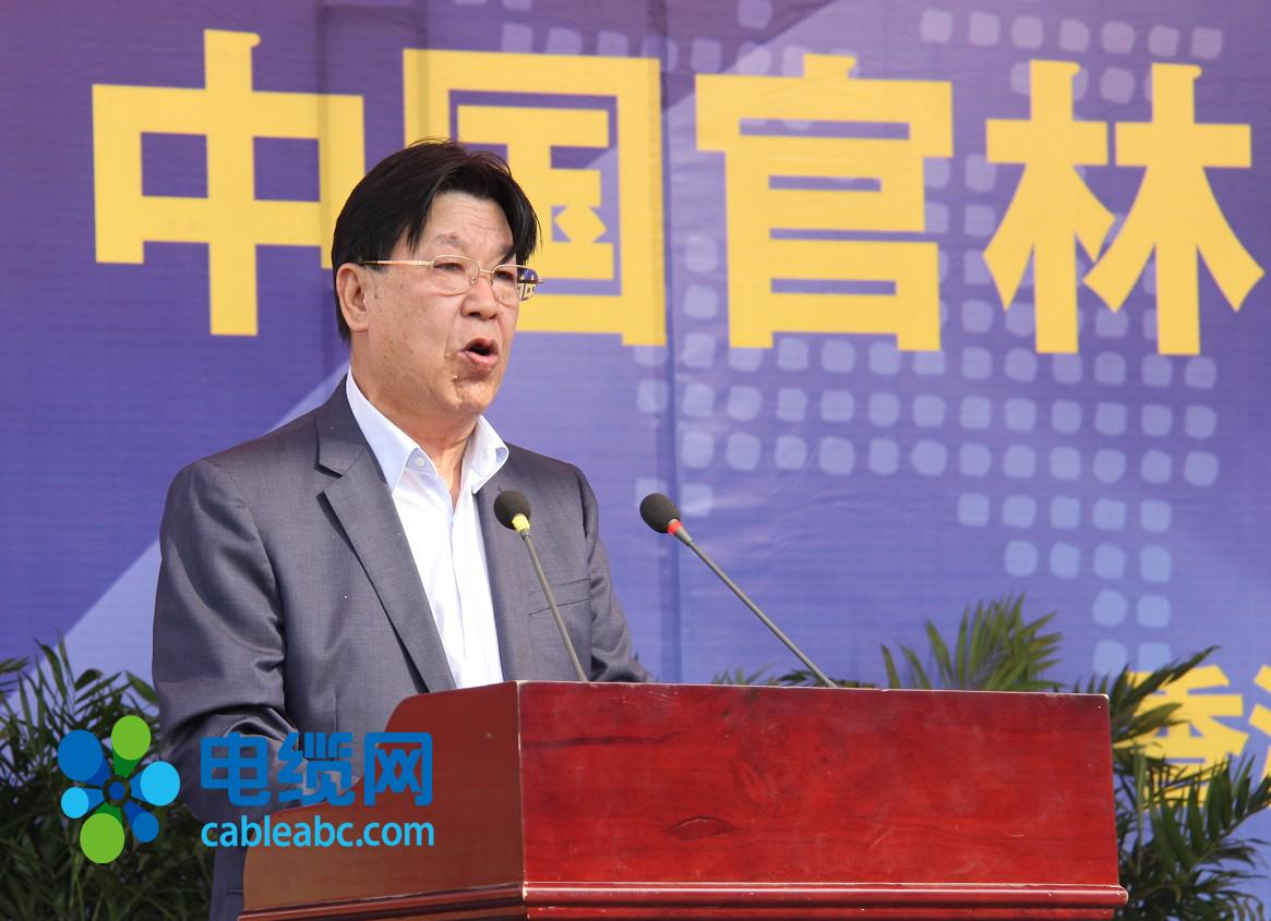 无锡江南电缆有限公司董事长芮福彬在致辞