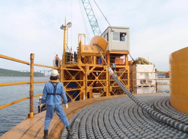 住友在台建高压海底电缆